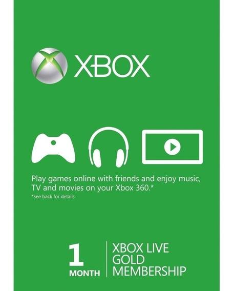 Live Gold 1 Mês - Xbox One - 360 - Envio Imediato