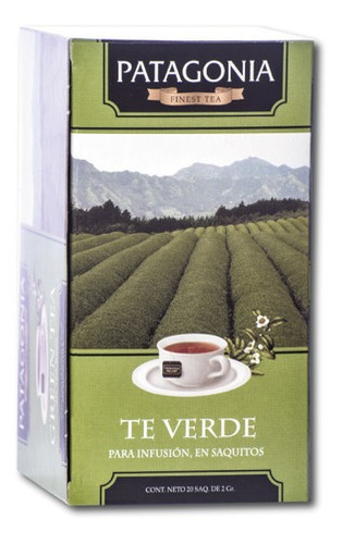 Te Patagonia Premium X 20 Saq. Té Verde