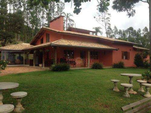 Chácara Com 4 Dormitórios À Venda, 48400 M² Por R$ 1.600.000,00 - Recanto Dos Pássaros - Piracaia/sp - Ch0002