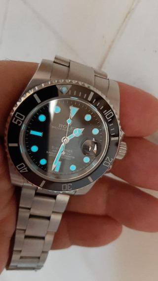 Relógio Submariner Fundo Preto Azul Verde Gmt Master Ii 13