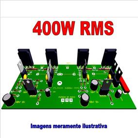 Projeto De Amplificador Stereo De 400w. Arquivos Em Pdf