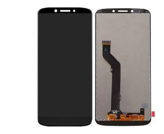 Display Tela Touch Frontal Lcd Moto E5 Plus - Preto/dourado