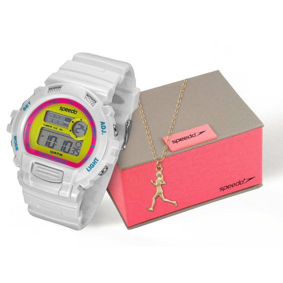 Relógio Speedo Feminino Branco Com Semijóia 65083l0evnp5k2