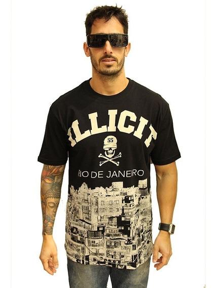 Camisa Illicit 55 Favela Costas Rj Cor Preta