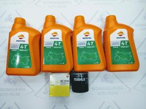 Kit Troca Óleo /filtro Hornet 600/cbr 600f Repsol 20w50 Top