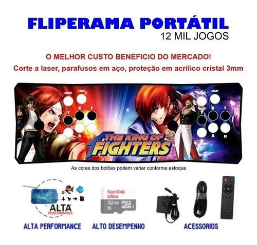 Fliperama Portátil Slim 3 Em 1 - Kof