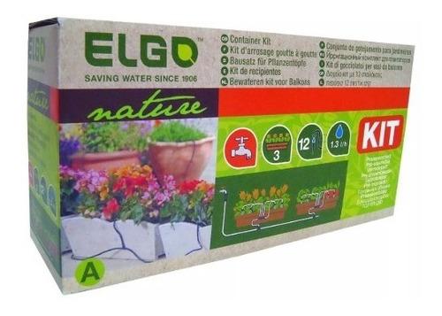 Kit Riego Por Goteo Para Jardineras Y Macetas Elgo