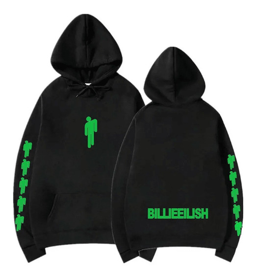 Buzo Billie Eilish / Canguro Capucha Unisex Verde