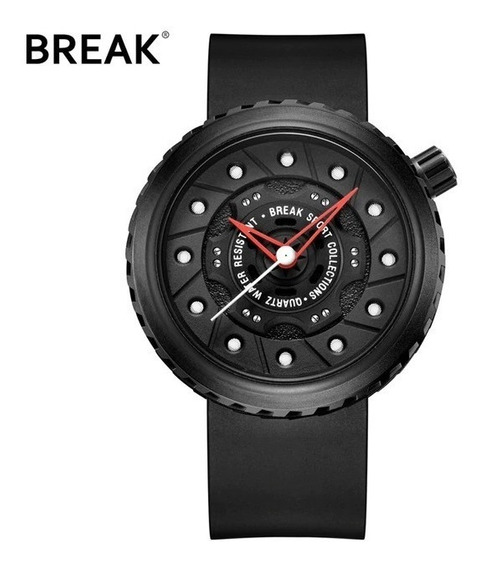 Relogio Break Watch Design Pneu Freio Diver 30m Original