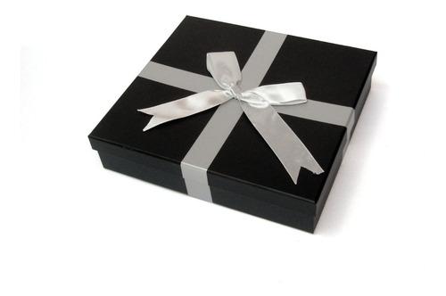 Caja De Regalo Con Moño X 10 Unid - 20 X 20 X 5 Cms
