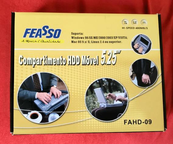 Case Portátil Hd Dvd Cd Externo De 5,25 Usb Feasso Fahd-09