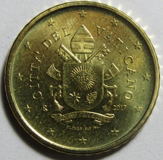 Vaticano Moneda 50 Euro Cents Niquel Año 2017 Unc