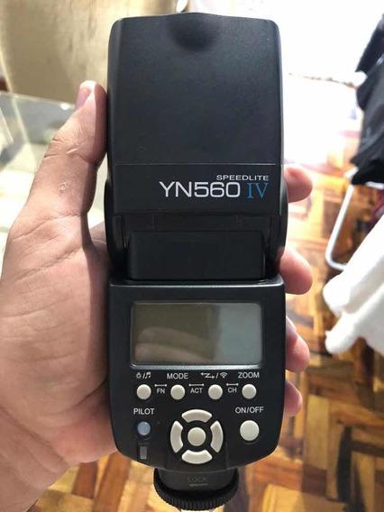 Flash Yongnuo Speedlite Yn560 Iv Cânon Nikon Olympus Sony