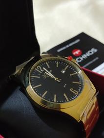 Relógio 21115lan/4p Masculino Moderno Com Nf-e