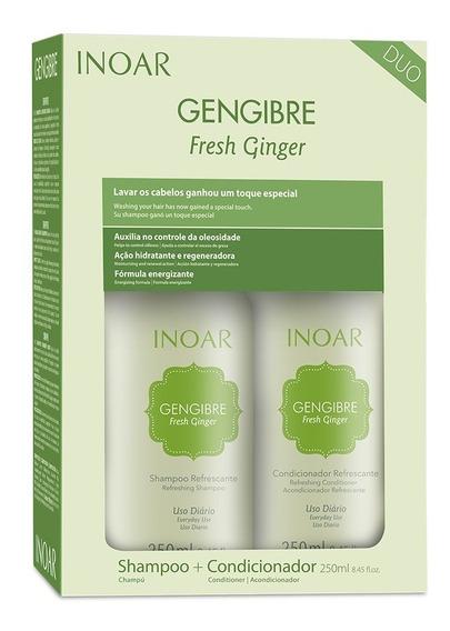 Kit Shampoo E Condicionado Gengibre Fresh Ginger Inoar 250ml
