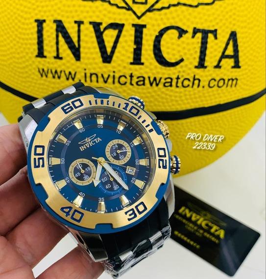 Relógio Invicta Pro Diver 22339 - Ouro 18k Original