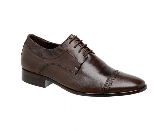Sapato Social Masculino Oxford Couro Pelica 707707 - Frete Grátis