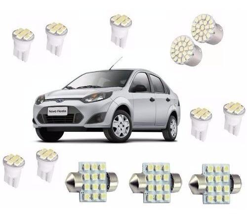 Lampadas Automotiva Ford Fiesta Farol Teto Placa E Ré