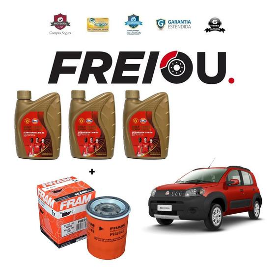 Kit Troca De Óleo + Filtro Fiat Uno 2010 Para Frente