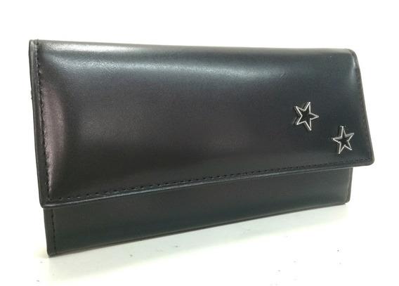 Billetera/monedero Cuero Orifaz Con Estrellas. Art. 2025-v