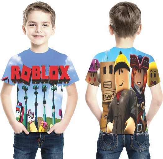 Camiseta Roblox Mod 02 Estampa Total Infantil