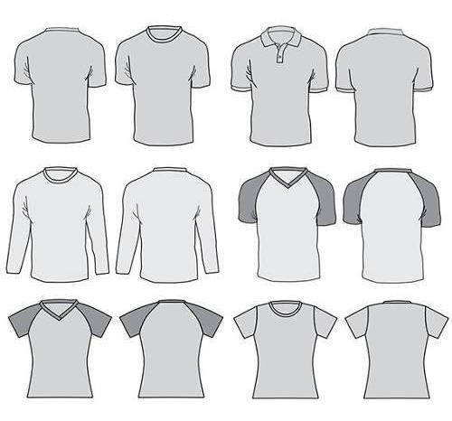 Camisetas E Roupas Layouts Vetorizados Em Corel - Vários