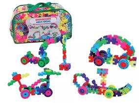 Brinquedo Pedagógico Blocos De Montar Multi Ideias 1000 Pçs
