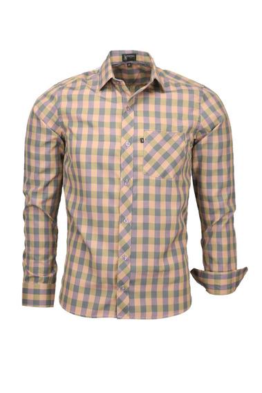 Camisa Plug Manga Longa Slim - Salmão - Ref 1537