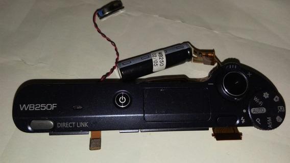 Circuito Flash E Botão Disparo P/ Câmera Samsung Wb250f