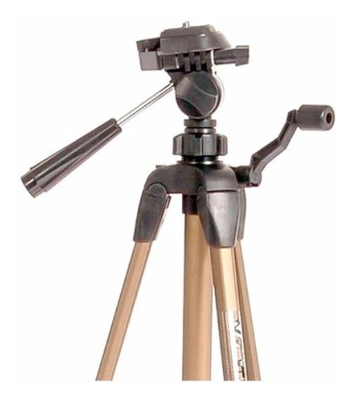 Tripé Weifeng Greika 1,38 M Wt3710 P/ Câmeras E Filmadoras