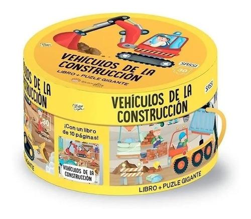 Rompecabezas Puzzle 30 Pzs + Libro Vehiculos De Construccion