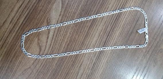 Corrente Prata 925 Maciça Grumêt 60cm 8mm 38 Gramas