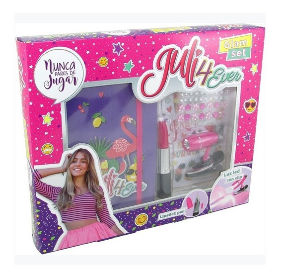 Juli4ever Glam Set Cuaderno Accesorios Luz Led Original Full