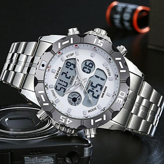 Relógio Masculino Digital E Analógico Stryve Original