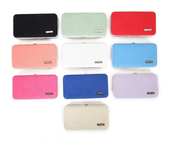 Pack X 12 Billetera Lisa Dama Colores Surtidos Envio Gratis