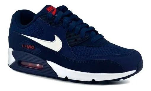 Zapatilla Nike Hombre Air Max 90 Essential - Hombre - Azul