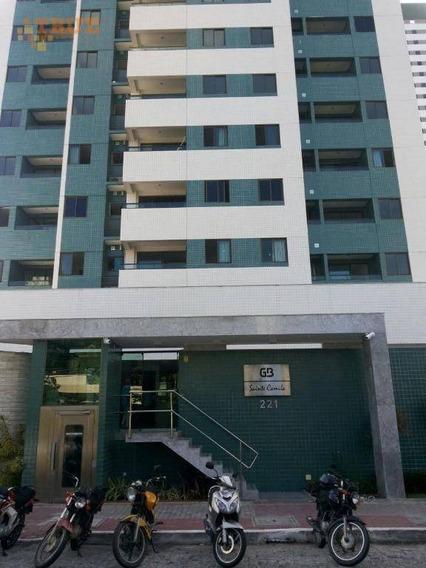 Apartamento Com 3 Dormitórios À Venda, 91 M² Por R$ 590.000 - Madalena - Recife - Ap2968