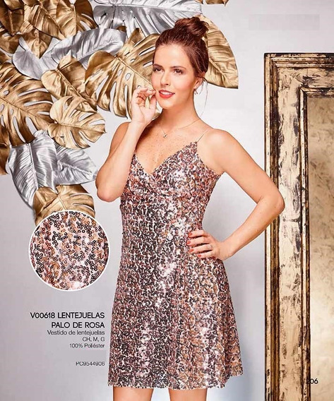 Envio Gratis Ropa Mujer Vestido Formal Lentejuela Rosa I17