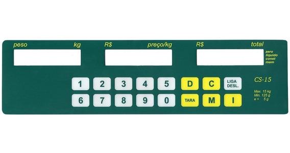Teclado De Membrana Balança Filizola Cs 15 Lcd Verde