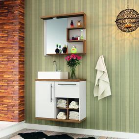 Gabinete Para Banheiro Cuba E Armário Com Espelho Ei