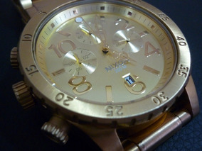 Relógio Nixon 48-20 Chrono All Gold Original