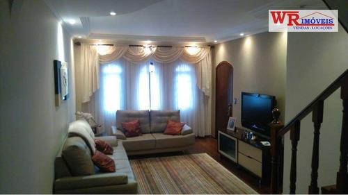 Imagem 1 de 13 de Sobrado À Venda, 220 M² Por R$ 626.000,00 - Jardim Las Vegas - Santo André/sp - So0081