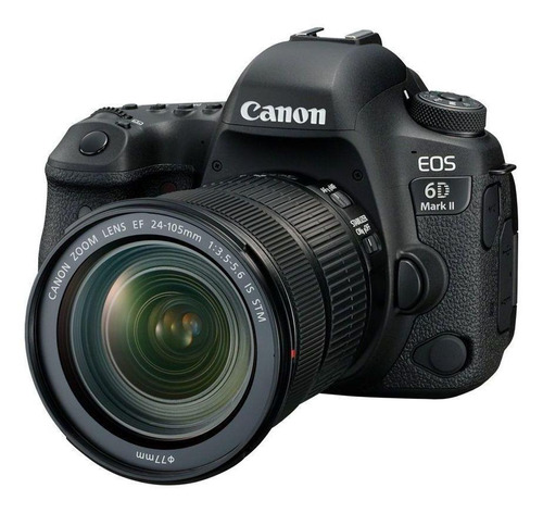 Canon EOS 6D Mark II 24-105mm IS STM Kit DSLR cor preto
