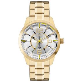 Relógio Technos Masculino Racer Dourado 2315kzw/4d Original