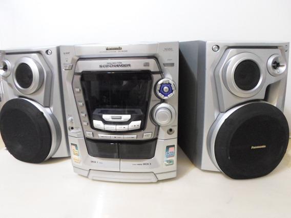 Mini Sistem Panasonic Mod. Sa-ak300 5 Cd (usado Ler Anuncio