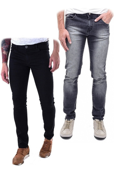 Kit 2 Calça Jeans Masculina Slin Fit Premium 2019
