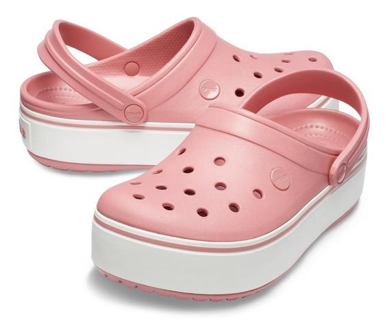 Plataforma Crocs Crocband Clog Rosa Original 2054346ph