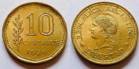 Argentina Moneda 10 Centavos 1974