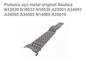 Pulseira Nautica Aço 28mm A13600g N13530g Etc.