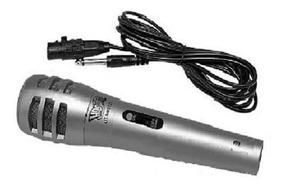 Microfone Dinâmico Com Fio P/ Karaoke Cabo 2,5m